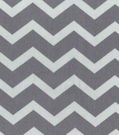 Home Essentials 45'' Print Fabric Chevron Grey at Joann.com