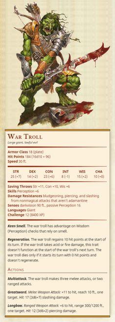 War Troll CR 12