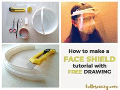 How to Make Plastic Face Shield with Household Materials de masque facial Diy Mask, Diy Face Mask, Face Masks, Bucket Drawing, Clear Plastic Sheets, Plastic Mask, Clear Face, Making Faces, Just In Case