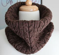 Designed in the beautiful Coco colorway of Malabrigo Rios, this luxurious cowl is a quick, one skein project worked in a stitch pattern that looks more complicated than it really is.