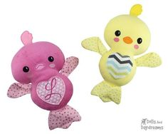 Embroidery Machine Chick Love Bird Pattern - Dolls And Daydreams