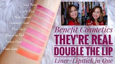 Benefit Cosmetics They're Real Double the Lip Lipstick Swatches