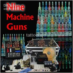 Wholesale Tattoo Kit 9 Machine Guns 40 Inks Equipment Power D23(1) shipping from USA, Free shipping, $81.7-89.99/Piece | DHgate