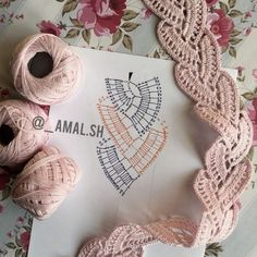How to Crochet Wave Fan Edging Border Stitch Crochet Cord, Crochet Lace Edging, Crochet Motifs, Crochet Borders, Crochet Diagram, Cute Crochet, Irish Crochet, Crochet Flowers, Crochet Stitches