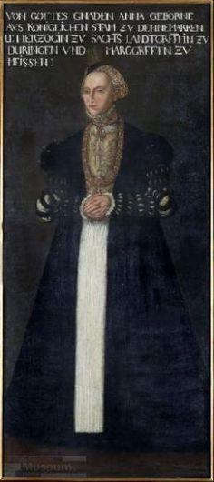 Anna (1532-1585), Herzogin von Sachsen  Hans Krell  unsigniert, 1553