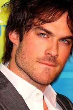 I'm not usually a big fan of blue eyes...but I make exceptions...Especially for Ian Somerhalder!!!