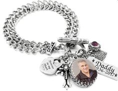 Memorial Charm Bracelet Remembrance Photo Jewelry