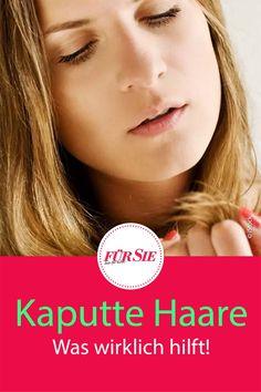 Nicht nur fehlender Glanz, auch die Kämmbarkeit und das Styling leiden unter kaputten Haaren. Schnell wirkt es strohig und ungepflegt und Pflegeprodukte halten oft nicht das, was sie versprechen. Mit unseren Tipps und Tricks helfen Sie Ihrem Haar bei seiner Regeneration. #kaputtehaare #trockenehaare #sprödehaare #haare #schönehaare #hausmittel #fuersiemagzin Leiden, Movie Posters, Split Ends, Dry Hair, Beauty Products, Beauty Tutorials, Sparkle, Remedies, Film Poster