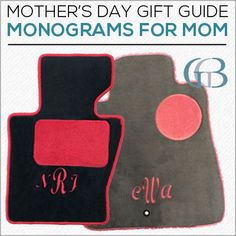 Monogrammed gifts make great Mother's Day gifts. Click the pin for our latest blog which includes five monogrammed gift ideas!