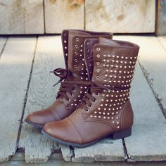 Darling studded fall boots!