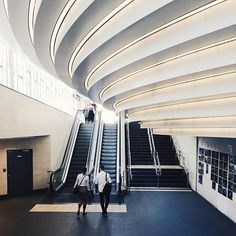 Modern architecture at the new entrance of metro station Odenplan. During 2017 the whole station will be ready! Odenplan will become a hub for commuter trains, metro and buses. #visitstockholm #subwayseries_sthlm