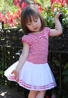 Bunnies Picnic - Kate Mack Eau So French Striped Tutu Dress for Babies & Toddlers - Boutique Clothing for Girls and Boys