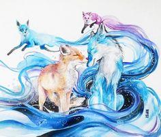 Рисунки от Luqman Reza Mulyono Животные, жираф, лиса, лошадь, олень, рисунок, длиннопост