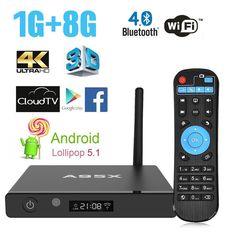 TV BOX, Lary Intel NEXBOX A95X King Android TV BOX 1G/8G Rockchip RK3229 Quad-core Cortex A7 2.4GHz Wifi 32bit Pre-installed 4K Streaming Media Player Fast Response & High Internet Speed