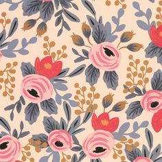 Rifle Paper - Blushing Rosa Print -What began as a small business based out of Anna and Nathan's apartment has quickly grown into a worldwide brand over the last four years. Rifle papers feature Anna's whimsical designs which often include Textures Patterns, Print Patterns, Floral Patterns, Bedroom Art, Bedroom Apartment, Rifle Paper Company, Floral Prints, Art Prints, Lino Prints
