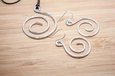 Aluminum Jewelry Set // Aluminum Earrings // by HutchinsStudio
