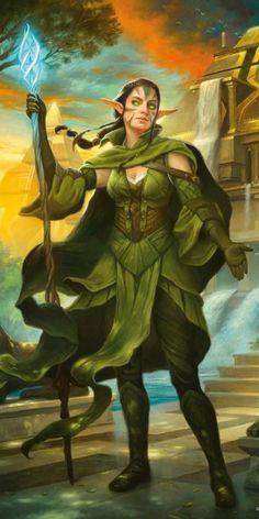 Nissa, Steward of Elements - Amonkhet MtG Art