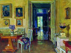 The Sitting Room at Brasovo, the country estate of the Grand Duke Michael Alexandrovich, 1916. Stanislav Zhukovsky