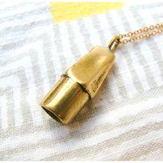Brass Eraser Necklace - cast from a real eraser!
