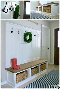 DIY Entryway #Mudroom Instructions-20 Best #Entryway Bench DIY Ideas Projects