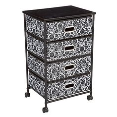Style It™ 4-Bin Rolling Cart, Floral at Big Lots.