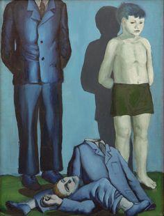 File:Rozstrzelanie V - execution V - Wróblewski. Art Lesbien, Dorothea Tanning, Lesbian Art, Stream Of Consciousness, Contemporary Paintings, Figurative Art, New Art, Arsenal, Surrealism