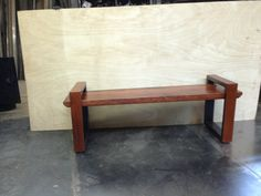 reclaimed wood bench with metal sides