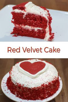 Like the color red? This elegant red velvet cake recipe is sure to impress your cake loving friends and family or maybe that special someone. Best Dessert Recipes, No Bake Desserts, Delicious Desserts, Cake Recipes, Red Velvet Desserts, Different Kinds Of Cakes, Homemade Donuts, Cream Cheese Recipes, My Dessert