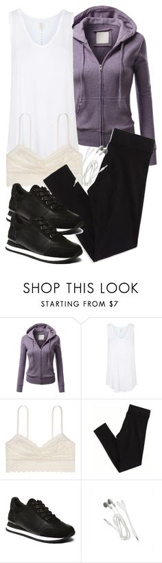 """""""Allison Inspired Affordable Exercise Outfit"""" by veterization ❤ liked on Polyvore featuring J.TOMSON, Topshop, American Eagle Outfitters and Steve Madden"""