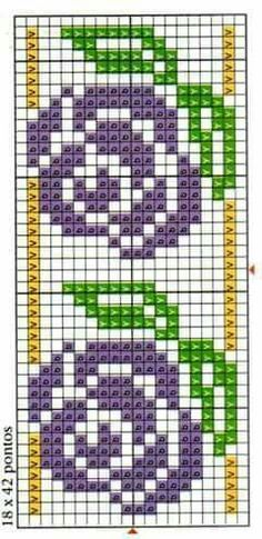 Bead loom or square stitch patterns. Cross Stitch Bookmarks, Cross Stitch Borders, Cross Stitch Flowers, Cross Stitch Designs, Cross Stitching, Cross Stitch Embroidery, Embroidery Patterns, Hand Embroidery, Cross Stitch Patterns