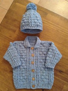 Bobbles Cardi and hat
