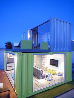 Container House - Shipping Container Homes: How to build a shipping container home, including plans, cool ideas, and more! - Who Else Wants Simple Step-By-Step Plans To Design And Build A Container Home From Scratch? Container Architecture, Container Buildings, Building A Container Home, Container House Plans, Container House Design, Cargo Container, Modular Homes, Prefab Homes, Shipping Container Home Designs
