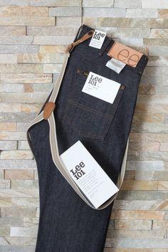 New LEE 101L Logger Jeans Selvedge Japan Raw / Dry Denim 13 1/4 oz + Free Braces