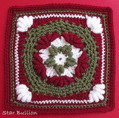 Star Bullion Crochet Block Pattern PDF - With Permission to sell finished item