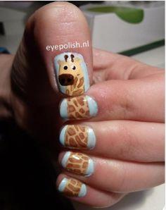 Giraffe Nail Art Design