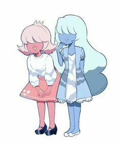 padparasha and sapphire steven universe by Charamells