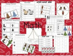 Wild West Theme Activities for reading and math centers