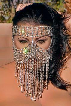 Swarovski Mask - Genuine Austrian Crystal