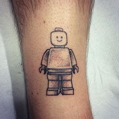 """Little dotwork Lego Man done today! First dotwork on someone other than me. Thanks Mark! ❤️✌️✨"" Photo taken by @rebekkarekkless on Instagram, pinned via the InstaPin iOS App! http://www.instapinapp.com (10/12/2015)"