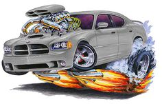 Madd Dogg's Muscle Car Art | Madd Doggs Dodge Charger Muscle Car T Shirtst Shirt Apparel