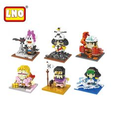 Full Set 6 Styles Mini Bricks One Piece LNO Toys Pirates Series Assembly Model Nano Building Blocks Cartoon Gift For Kid Juguete #Affiliate