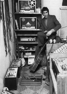 The Who's Pete Townshend in the studio back in the 60s