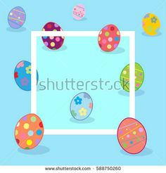 ArtDesign Illustration's Portfolio on Shutterstock  Easter Holiday greeting card, frames, patterns, greeting cards, E-CARDS, WALLPAPER, posters, symbols, icons, graphic illustration, vector, brochure templates. Clip ART vector illustration. Happy Easter eggs background. Spring, decoration. Easter eggs decorated with ornament. 2018 collection