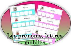Lettres mobiles : Les prénoms de la classe (PS, MS, GS)