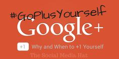Should You Plus Your Own Plus Posts? - http://www.thesocialmediahat.com/blog/should-you-plus-your-own-plus-posts-06172014