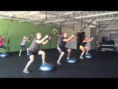 TRX Suspension Training w a bosu Step Aerobic Workout, Bosu Workout, Tabata Workouts, Aerobics Workout, Workout Guide, Workout Challenge, Cardio, Trx Suspension, Suspension Training