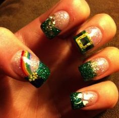Click Pic for 19 Easy St Patricks Day Nail Designs   Easy Nail Art for Beginners Step by Step