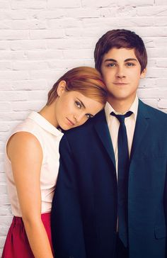 Photo of Emma Watson  & her friend Logan Lerman
