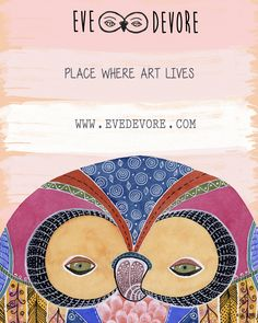 Owl Art by Eve Devore on Etsy