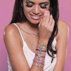 Pick your color!  13208, 23208, 33205, 13209, 23209  https://www.caterinajewelry.com/product/cj-minimalista-purple-confidence-silver-bracelet/  caterinajewelry #minimalista #jewelry #silver #swarovski #caterinalove #purple  #getthelook #photooftheday #cut